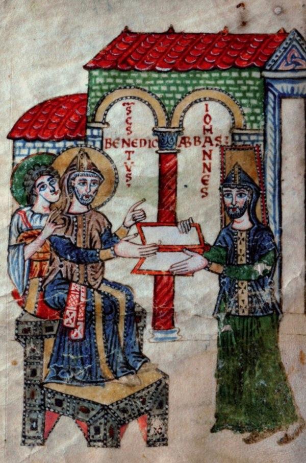 Commentarius in Regulam Sancti Benedicti, Chronica Sancti Benedicti, Monumenta Ordinis Monastici, sec. X (915-934), Casin. 175, p. 2, Archivio dell'Abbazia di Montecassino