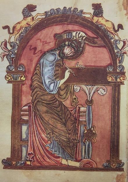 Libro dei Vangeli, sec. XI, Casin. 437, p. 166, Archivio dell'Abbazia di Montecassino
