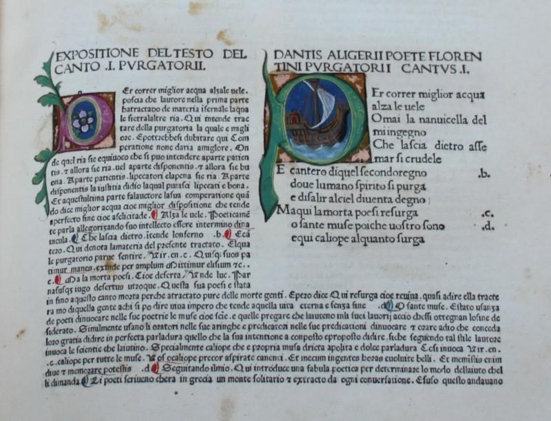 Dante Alighieri, Divina Commedia, 1477-78, Milano, Biblioteca del Monumento nazionale di Montecassino