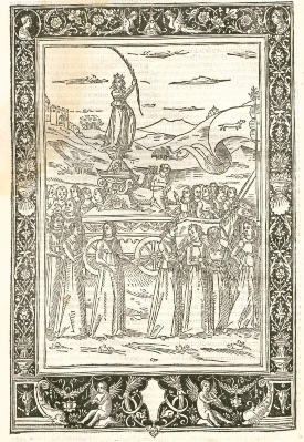F. Petrarca, Trionfi, Venezia, 1491, Bayerische Staatsbibliothek München, 2 Inc.c.a. 2755 g-1/2, Bildnr.90, urn:nbn:de:bvb:12-bsb00058455-3 (CC BY-NC-SA 4.0)