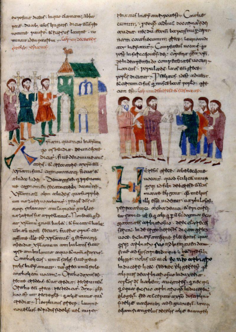 Rabano Mauro, De universo, sec. XI (1022-1035), Casin. 132, p. 71, Archivio dell'Abbazia di Montecassino