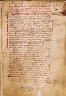 Giustiniano, Institutiones, Sess. 110, Roma, Biblioteca nazionale centrale